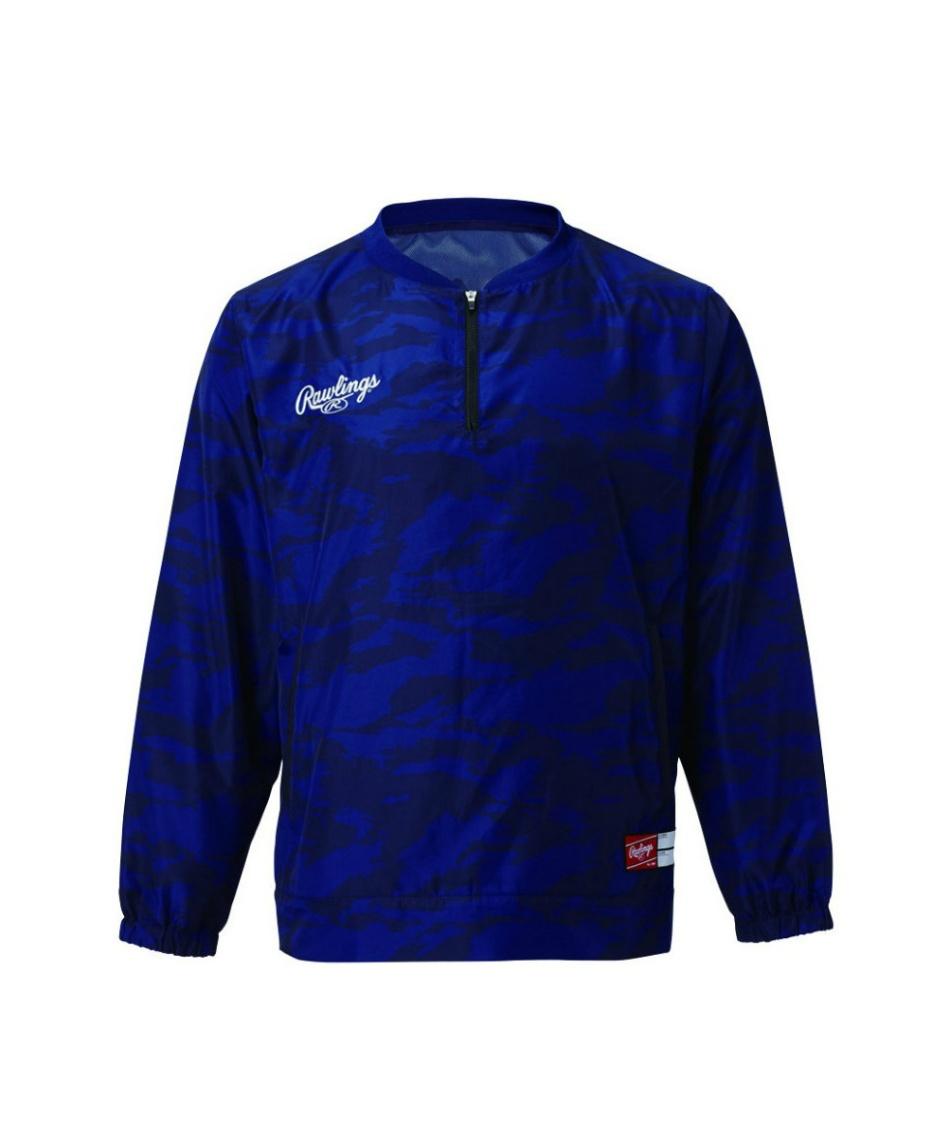 ローリングス(Rawlings) 野球 ウインドブレーカージャケット コンバット長袖ウインドシャツ 裏メッシュ AOS9F07
