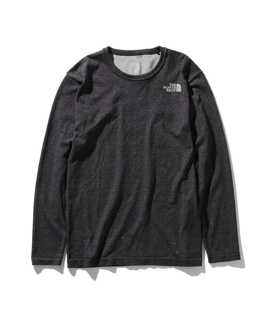 ノースフェイス(THE NORTH FACE) Tシャツ 長袖 ロングスリーブスクエアロゴジャカードティー L/S Square Logo Jacquard Tee NT81907 K