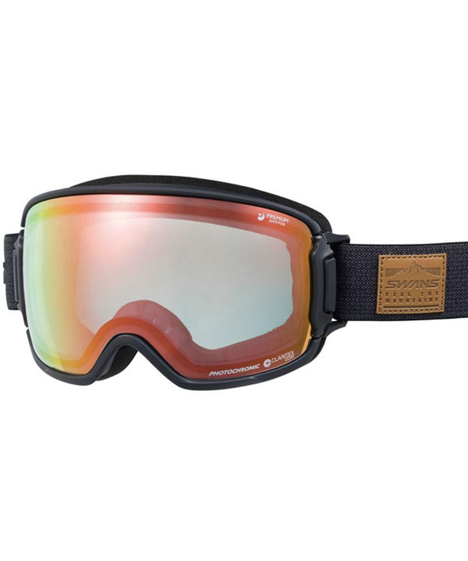スワンズ(SWANS) スキー スノーボードゴーグル 眼鏡対応 BKOC MITミラー調光レンズ メガネ対応 V-RIDGELINE-MDH-CMIT 【20-21 2021モデル】