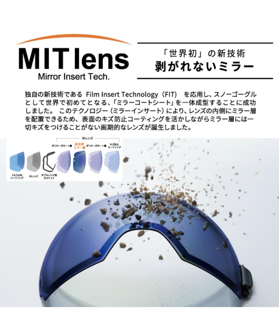 スワンズ(SWANS) スキー スノーボードゴーグル 眼鏡対応 BKOC MITミラー調光レンズ メガネ対応 RIDGELINE-MDH-CMIT 【20-21 2021モデル】