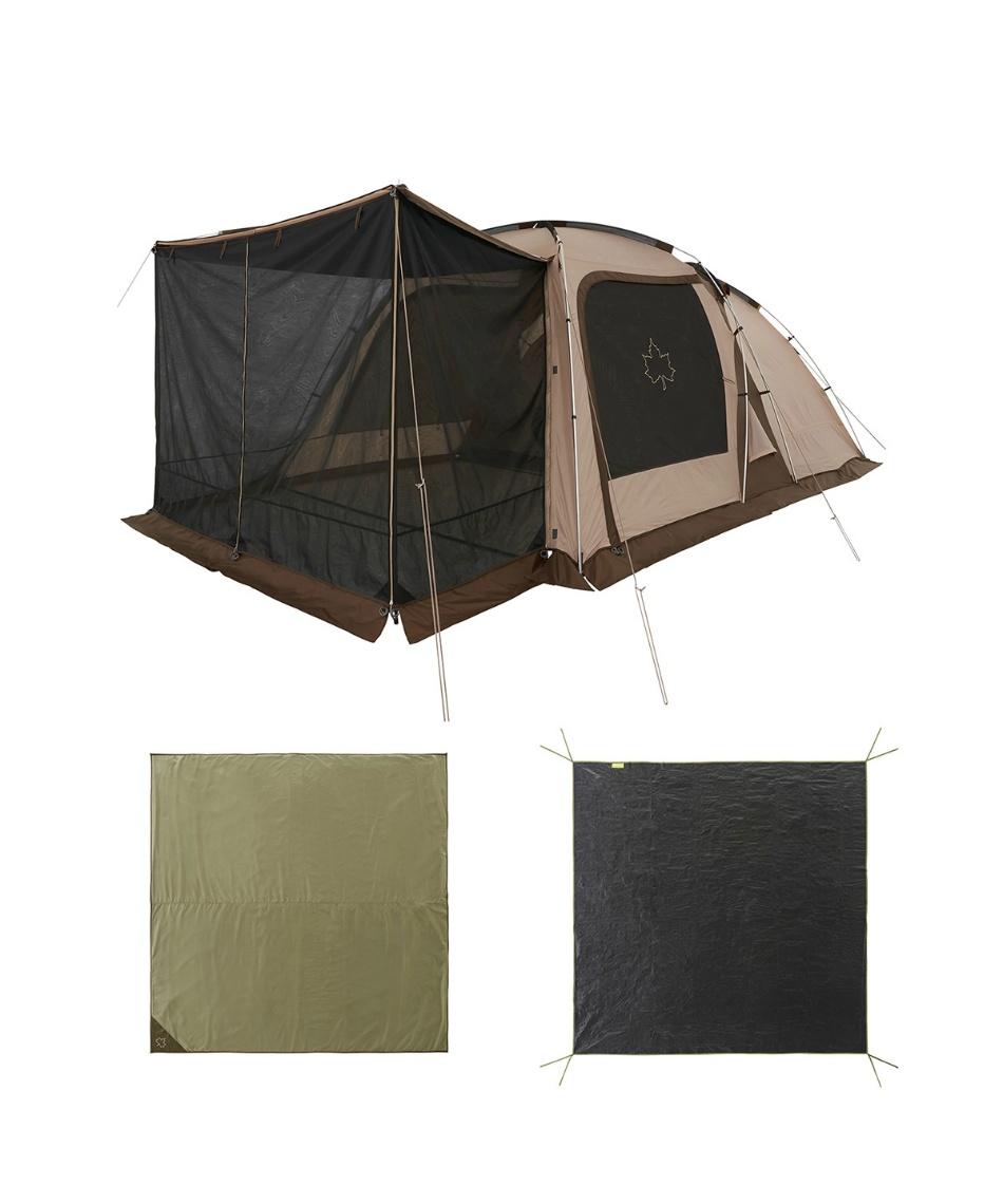 ロゴス(LOGOS) テント ドームテント Tradcanvas 3ルームテントセット 71805590