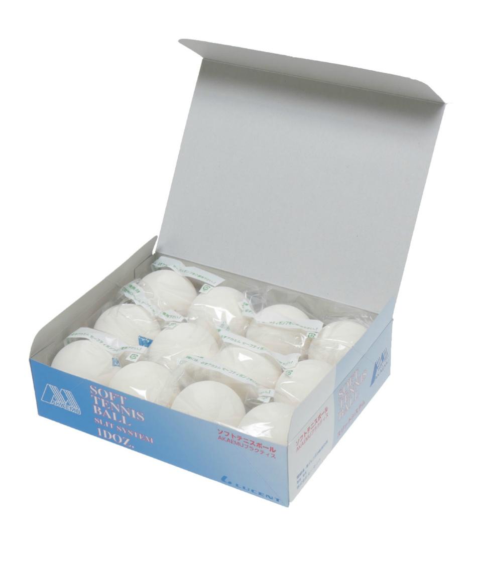 アカエム(AKAEMU) テニス 軟式 アカエムプラクティスソフトテニスボール スリットシステム M-40020 3g ソフトテニスボール AKAEMUプラクティス(練習球) M40000