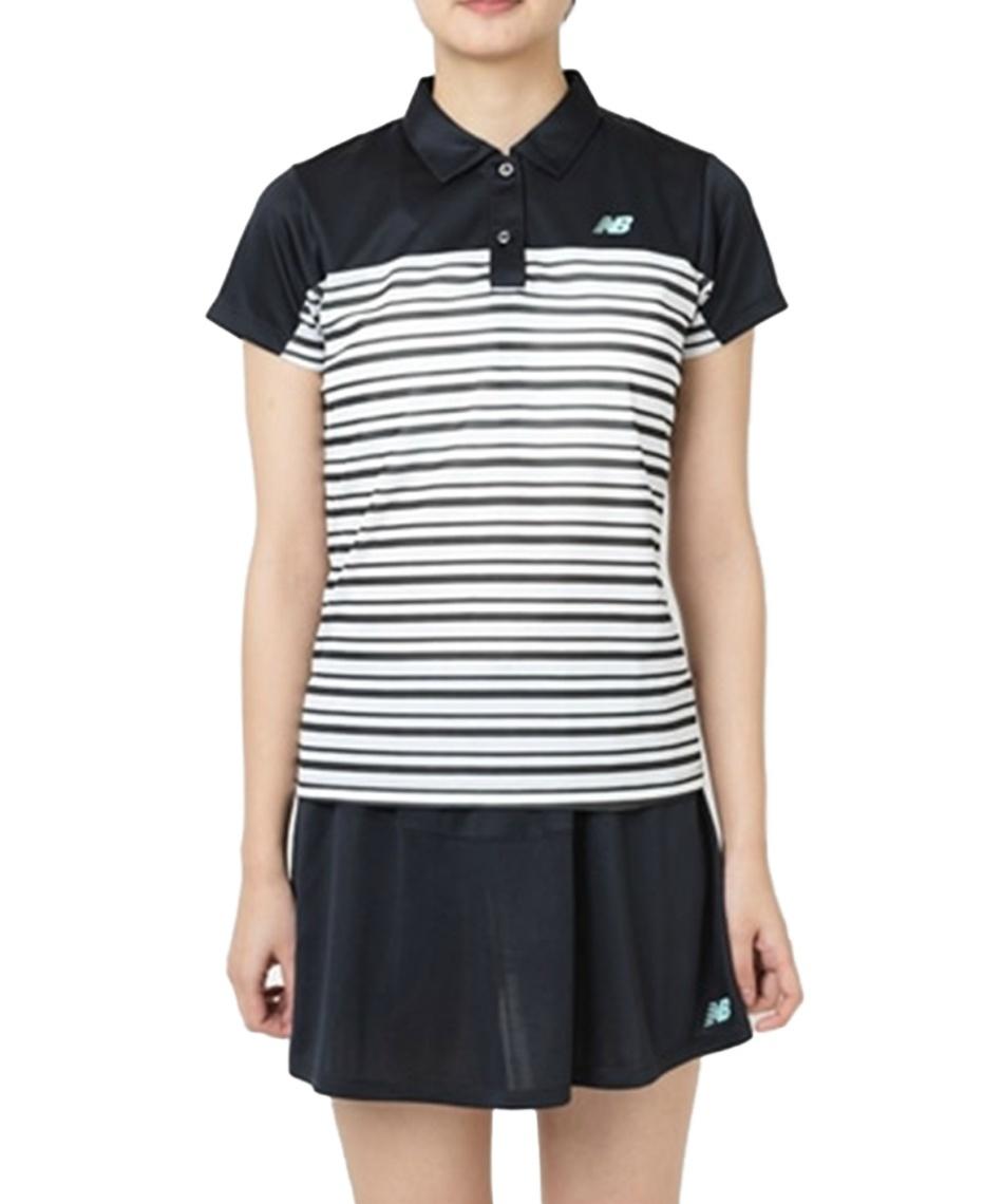 1c052f8f5387d ニューバランス(new balance) テニスウェア Tシャツ 半袖 ウィメンズボーダーグラフィックショートスリーブポロシャツ JWTT9143