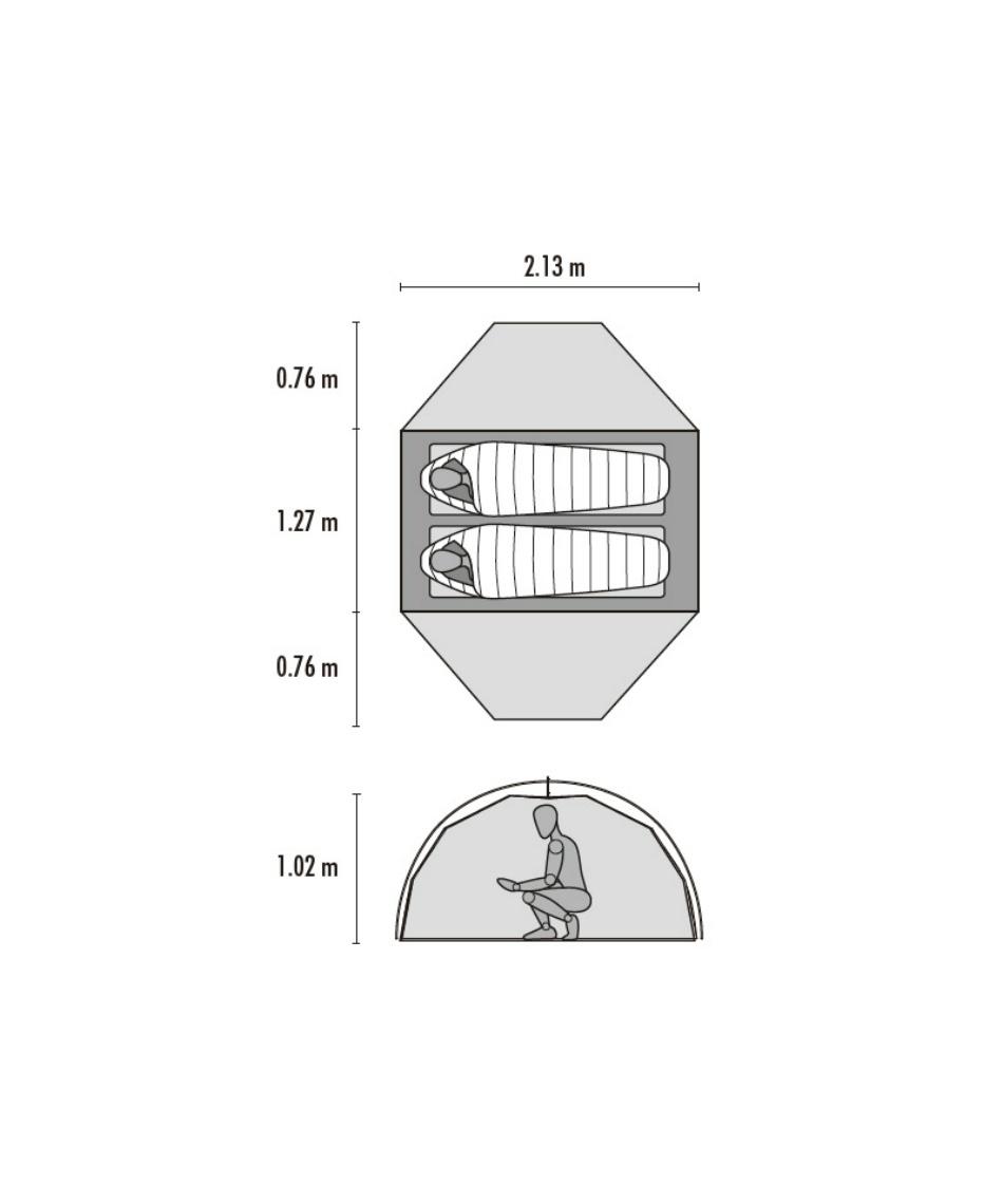 エムエスアール(MSR) テント ツーリングテント エリクサー2 37032