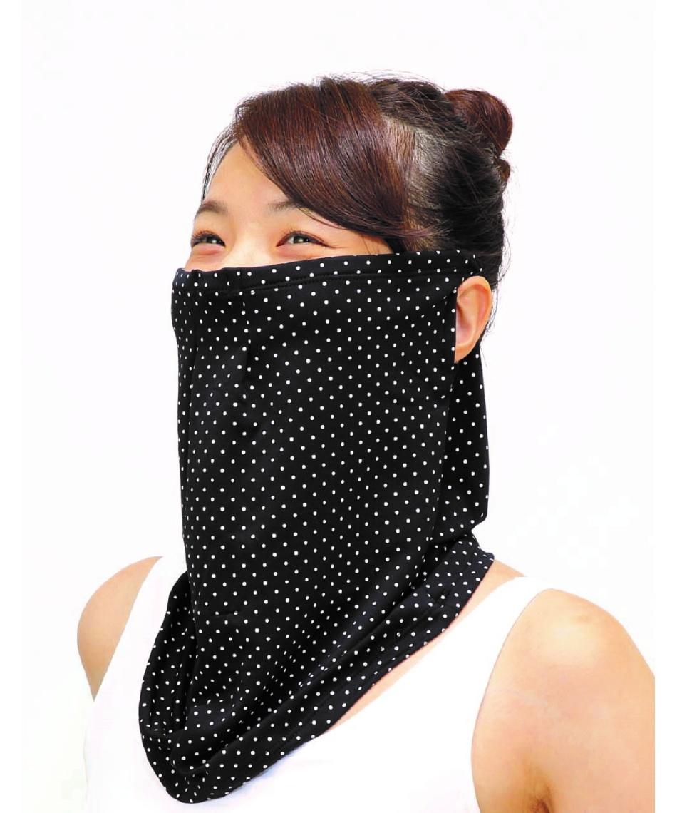 フェイスマスク ネックゲイター FitStyleフィットスタイル フェイスカバー メッシュ付 UV-2995