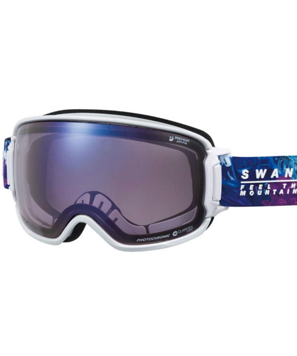 スワンズ(SWANS) スキー スノーボードゴーグル 眼鏡対応 ULTRA調光レンズ メガネ対応 RIDGELINE-MDH-CU 【20-21 2021モデル】