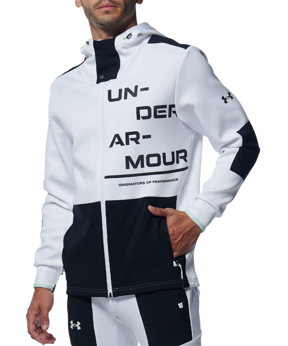 アンダーアーマー(UNDER ARMOUR) スポーツウェア ジャージ ジャケット UA ハイブリッドニットジャケット 1358821-100