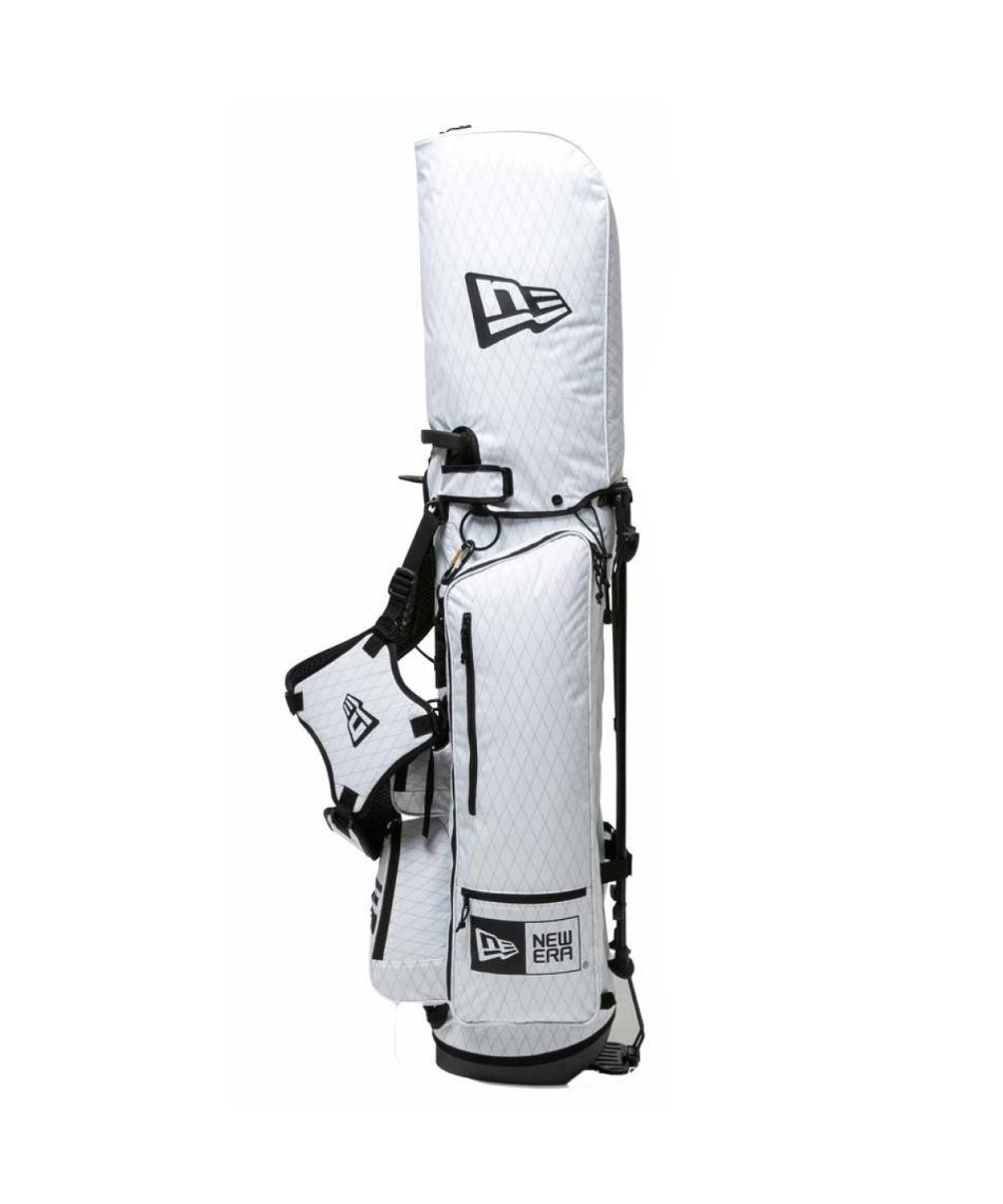 ニューエラ(NEW ERA) スタンドキャディバッグ ゴルフ キャディーバッグ スタンド式 ホワイト × ブラック ベーシックポーチ付き 12712288