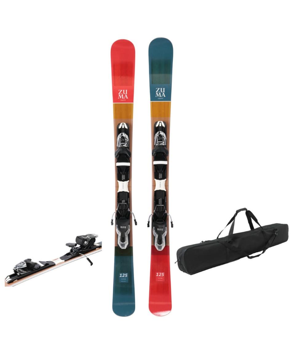 ツマ(ZUMA) ショートスキー板 ケースセット金具付 スキー板+ビンディング+ケース