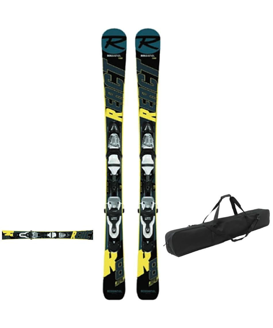 ロシニョール(ROSSIGNOL) ショートスキー板 ケースセット金具付 スキー板+ビンディング+ケース