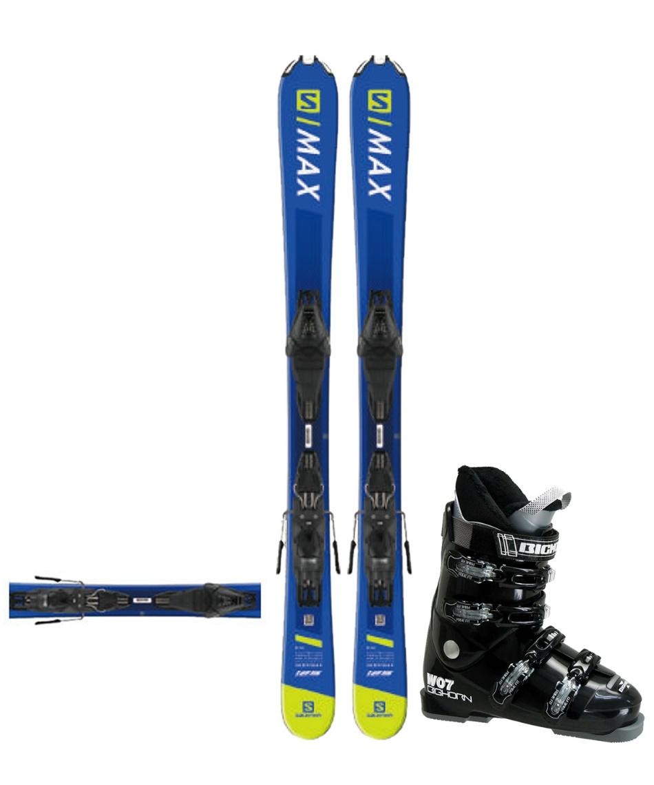 サロモン(salomon) ショートスキー板 板・金具・ブーツセット SHORTMAX +LITHIUM10+BH-W07