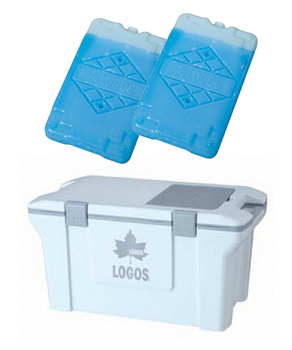 ロゴス(LOGOS) クーラーボックス アクションクーラー50(ホワイト)+LOGOS アイススタックパック847×2個【お買い得3点セット】 R16AE021