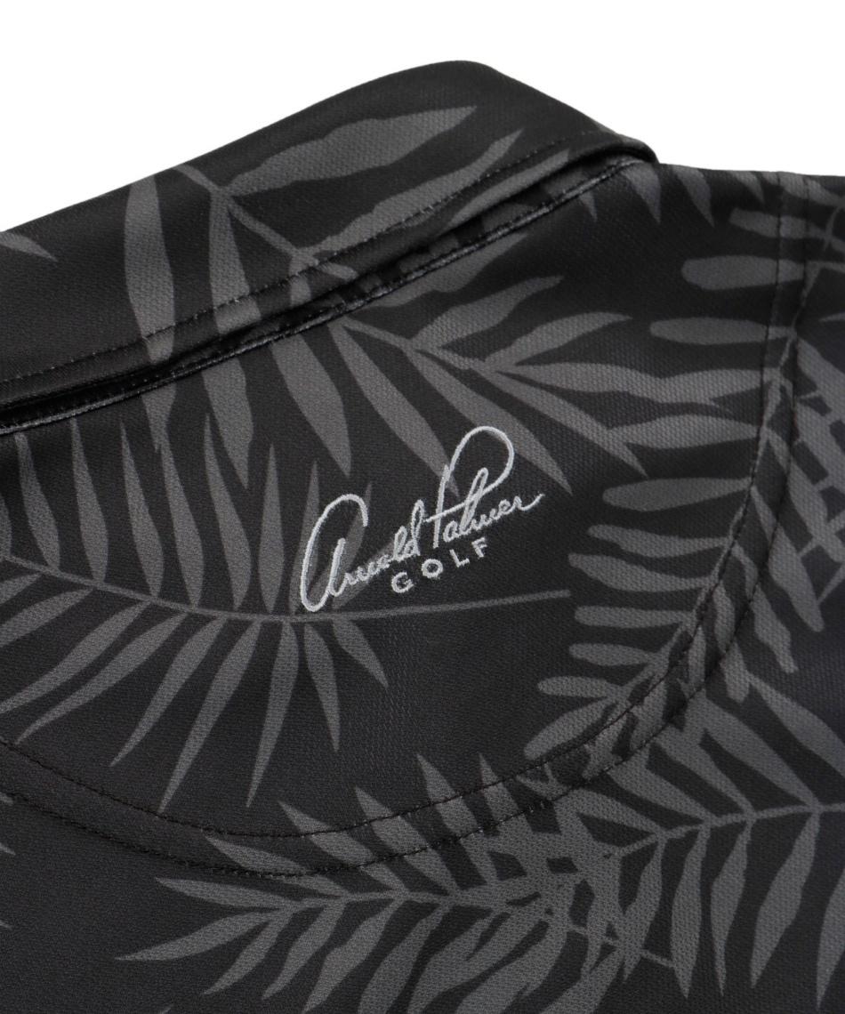 アーノルドパーマー(arnold palmer) ゴルフウェア 半袖ポロセット リーフ柄半袖シャツ + ベーシック鹿の子半袖ポロ AP220101J13 + AP220101J10