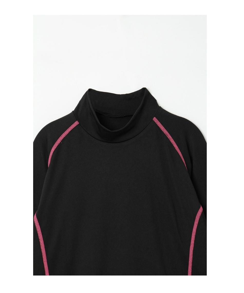 オプスト(OPST) ゴルフウェア 半袖ポロ インナーセット ストライプ半袖シャツ + 脇メッシュハイネック OP220301J04 + OP220310I01